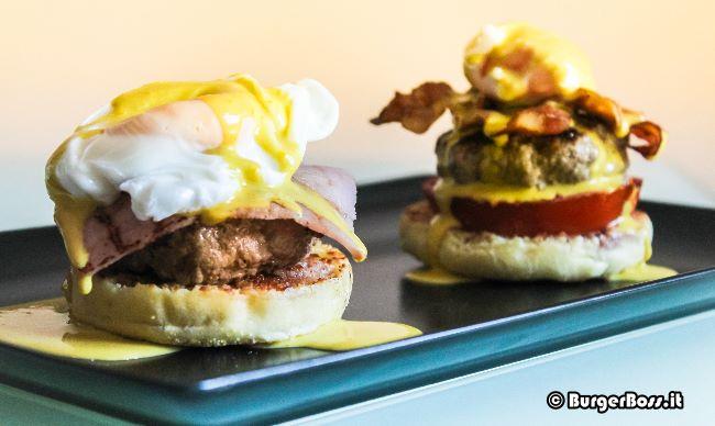 Egg Benedict & Egg Blackstone Burger