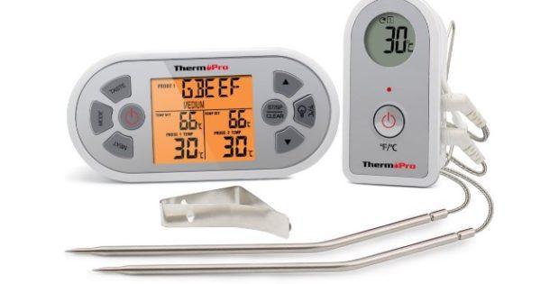 ThermoPro TP-22, termometro wireless con doppia sonda per barbecue e forno