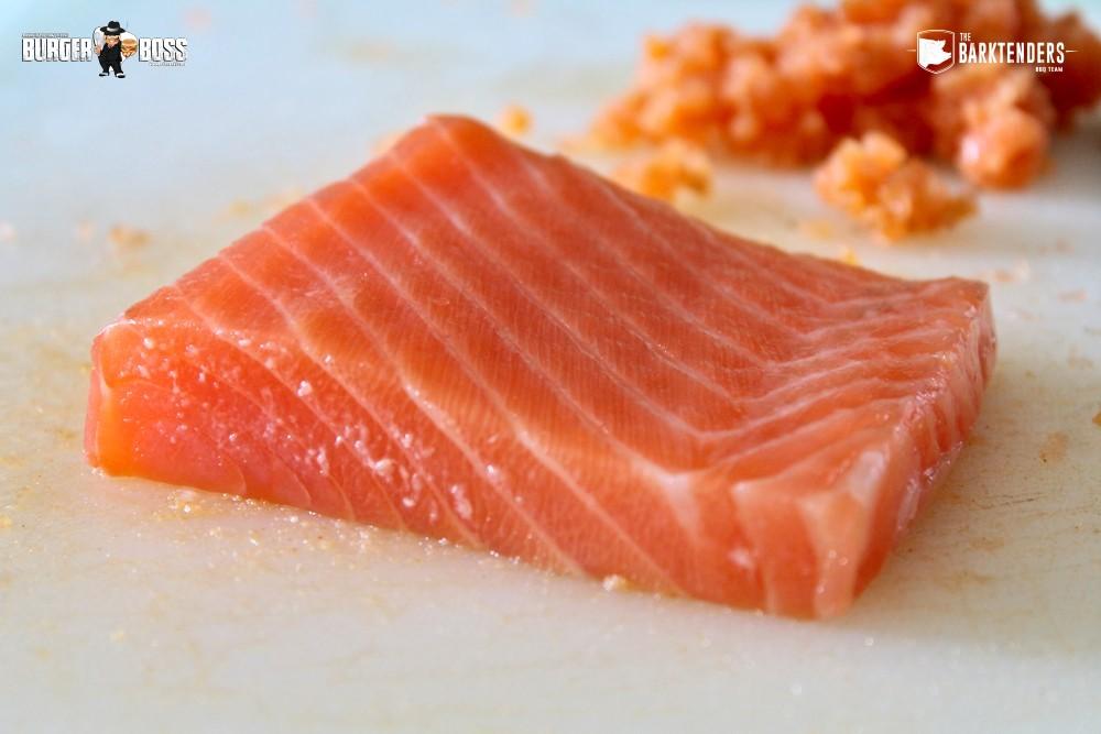 Salmone fresco abbattuto