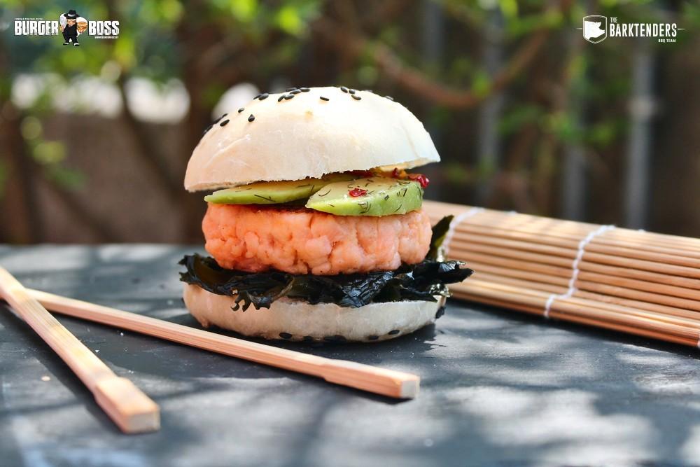 Sushi Slider, mini hamburger di salmone