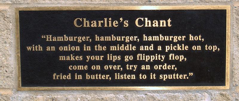 Storia dell'hamburger: Charlie's Chant